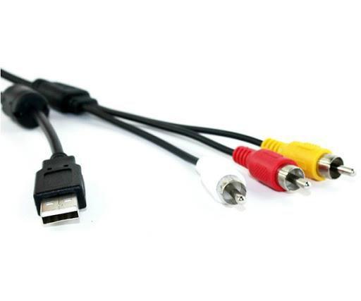Cabo USB Macho + 3RCA 1.5M  LE-036