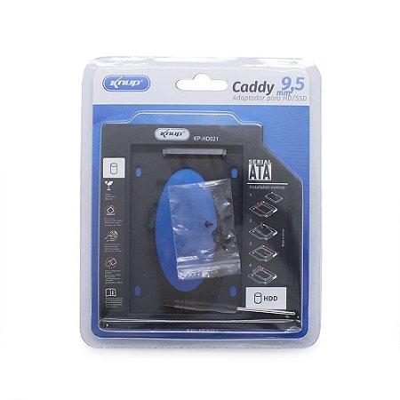 Caddy Para SSD 9,5 Knup KP-HD021
