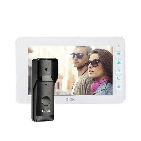 Kit Vídeo Porteiro Touch Colorido 7 Polegadas Com Unidade Externa Giga GS0098