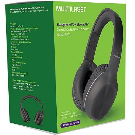 Headphone Bluetooth Multilaser PH246