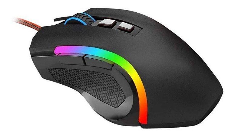 Mouse Redragon Gamer Griffin M607 RGB, 7200 DPI, 6 Botões
