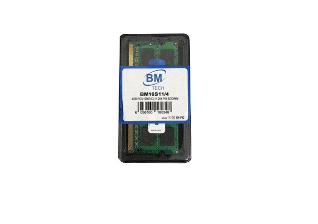 Memória Notebook DDR3 4GB BM Tech 1600MHz