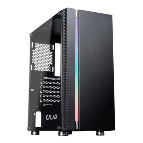 Computador, Gabinete Gamer Galax GX600, I3 9100F, Placa Mãe H310, Placa de Vídeo GTX550TI, 2 Memória DDR4 8GB, SSD 240GB, Fonte 500W, Kit Teclado e Mouse, Kit Cooler
