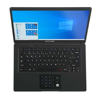 Notebook Multilaser, Pentium QuadCore, 4GB RAM, 64GB Windows 10, 14', Preto - PC310