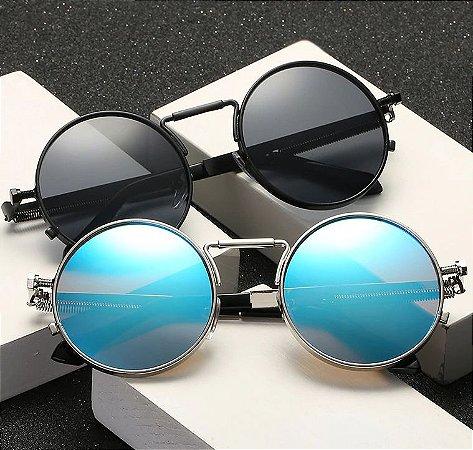 Óculos Redondo STEAMPUNK - Diversas Cores