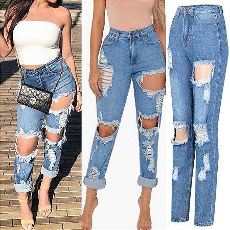 Calça Jeans Reta ALLRIPPED
