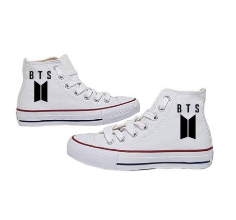 Tênis STAR Cano Alto BTS Branco