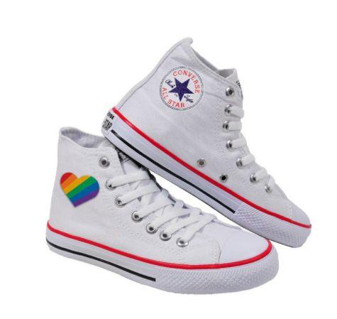 Tênis ALL-STAR Cano Alto LGBTQ+ ORGULHO