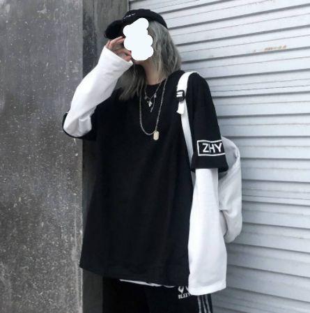 Camiseta Dupla Manga Longa STREETWEAR ZHYBFS - Duas Cores