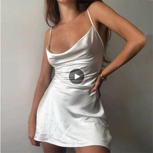 Vestido de Alcinha CETIM - Várias Cores