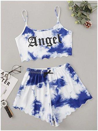Conjunto Cropped & Short TIE DYE  ANGEL