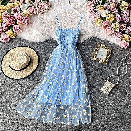 Vestido de Alcinha MARGARIDAS