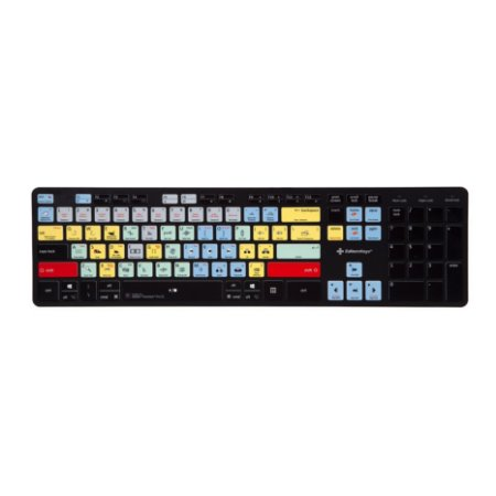 Adobe Premiere Pro Keyboard - Slimline USB Wired - US English