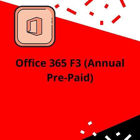 Office 365 F3 (Annual Pre-Paid)