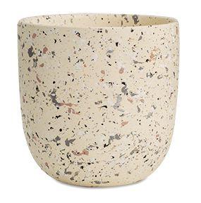 Cachepot tipo Granilite Cinza em cerâmica P