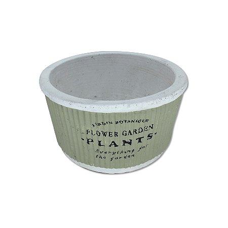 Cachepo Cimento Verde Garden