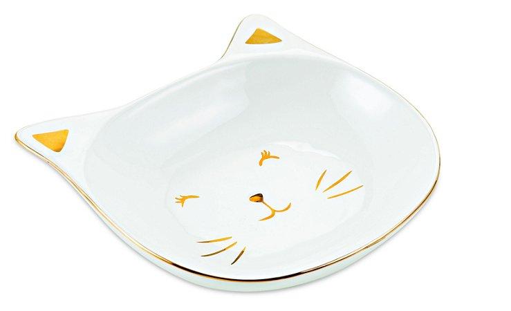 Mini Prato Gato em Ceramica