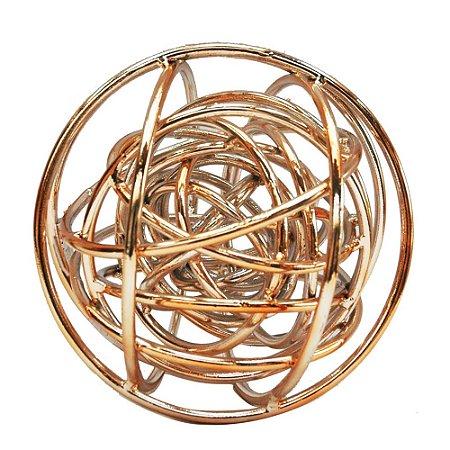 Esfera Decorativa em metal cobre