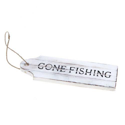 PLACA GONE FISHING 22CM