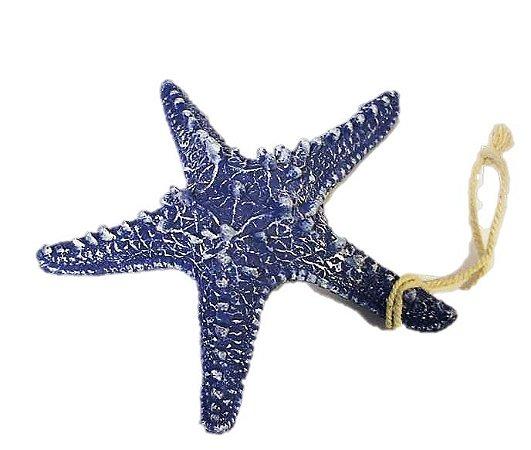 Estrela do mar Decorativa Azul em resina 16cm