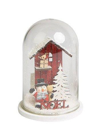 Cupula Xmas Wooden boneco de neve