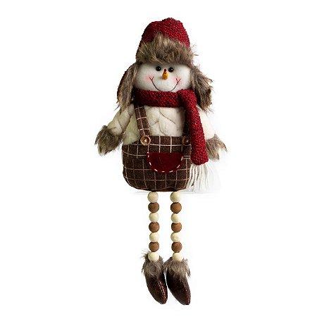 Boneco de Neve Pernas Micangas MR - 45cm