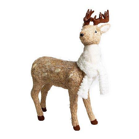 Rena Cute Moose em Palha