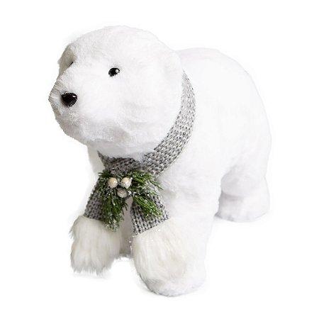 Urso Move Stay Branco em Pelucia