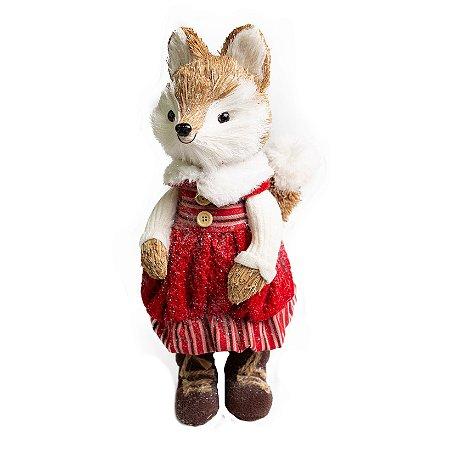 Raposa Vestido Lucky Vermelho - 31cm