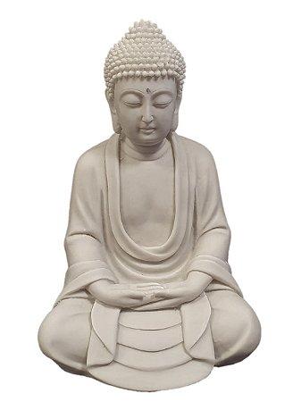 Buda decorativo em po de marmore