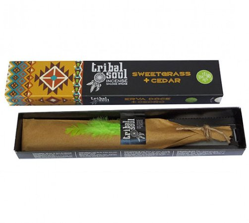 Incenso Massala Tribal Soul Sweetgrass + Cedar