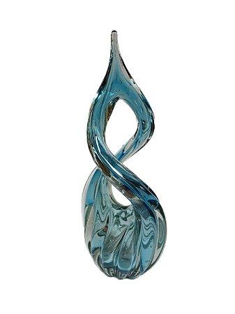 Adorno de Decoração em Murano Eight - Aquamarine