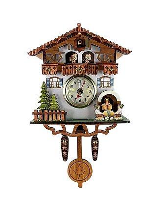 Miniatura Relógio Cuco Chalé do Chopp Quartzo MDF