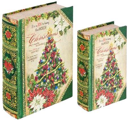 CJ 2 LIVRO CAIXA DE NATAL  BOOK BOX CHRISTMAS TREE