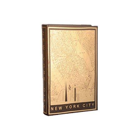 CAIXA LIVRO IMPRESSO EM FOLHA OURO NEW YORK CITY M