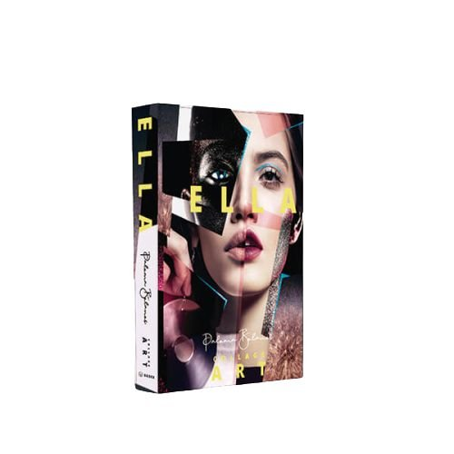 CAIXA LIVRO BOOK BOX ELLA COLLAGE ART