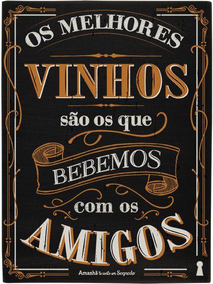 Quadro Box Vinho E Amigos 15x20cm
