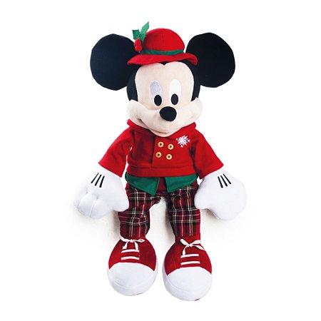 MICKEY ROUPA XADREZ VERMELHO/VERDE 30cm - Disney