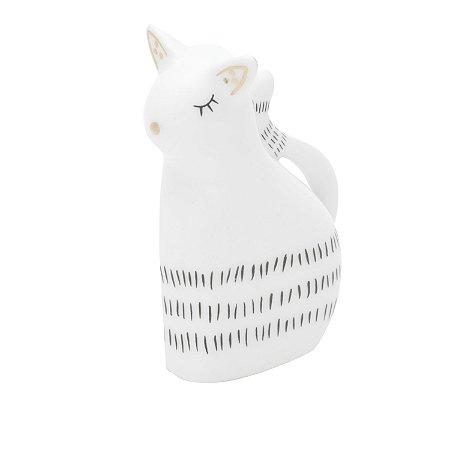 GATO DECOR PORCELANA LITTLE LOVELY CAT BRANCO