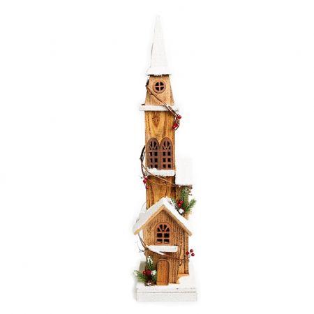 Casa Torre Nevada Decorativa com Led