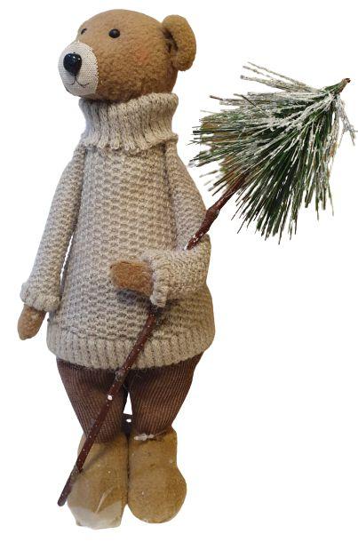 Urso Fancy Decorativo em Pelucia 36cm