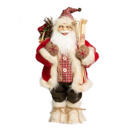 Papai Noel em Pe Lenhador-  80cm