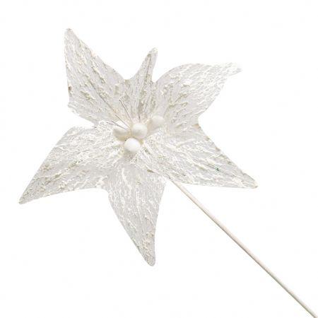 Poinsetia Luxe Branco 60CM