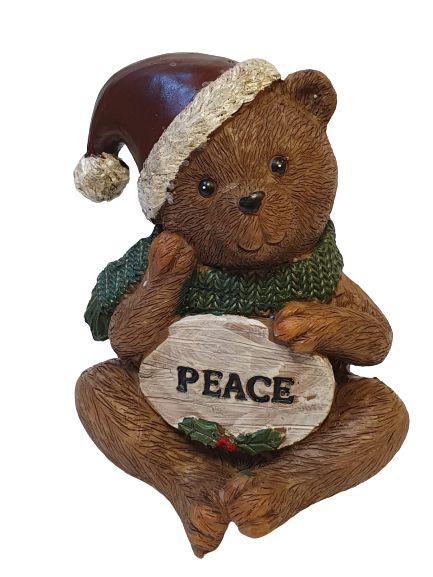 Urso em resina Peace