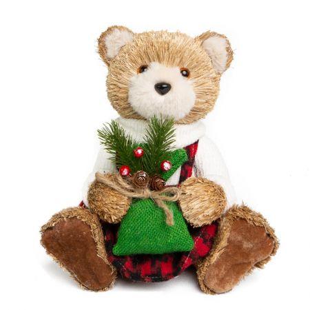 Ursa Dress Sentada com saco de presente