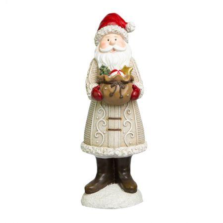 Papai Noel Decor com saco de presentes e luminaria em LED