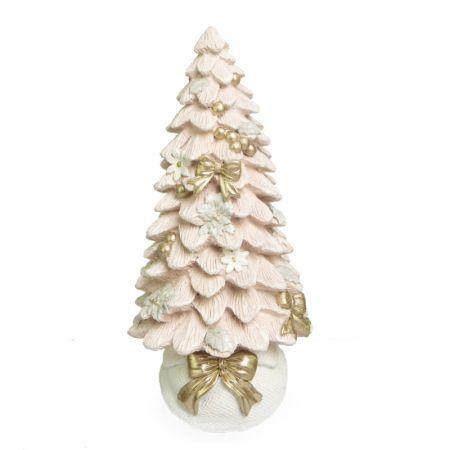 Arvore Decorativa Branca e Rosa em resina