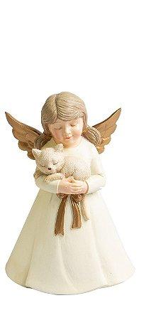 Anjo Sweet Pretty com gatinho branco