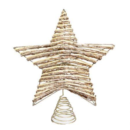 Estrela para arvore Decor Marrom