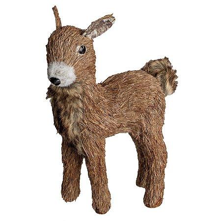 Rena em Pe Natalina Moose em Palha